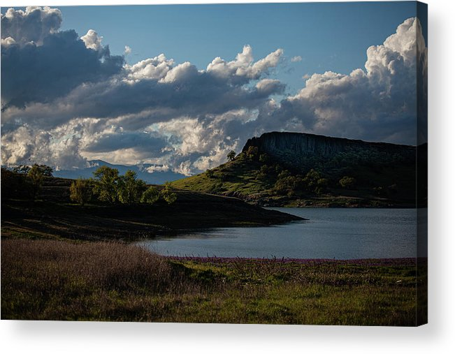 Lake Acrylic Print featuring the photograph Black Butte - spring 2020 by John Heywood