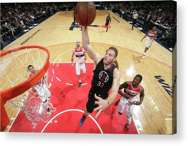 Nba Pro Basketball Acrylic Print featuring the photograph Blake Griffin by Ned Dishman