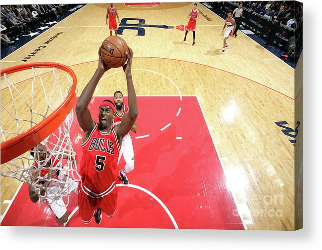 Nba Pro Basketball Acrylic Print featuring the photograph Bobby Portis by Ned Dishman