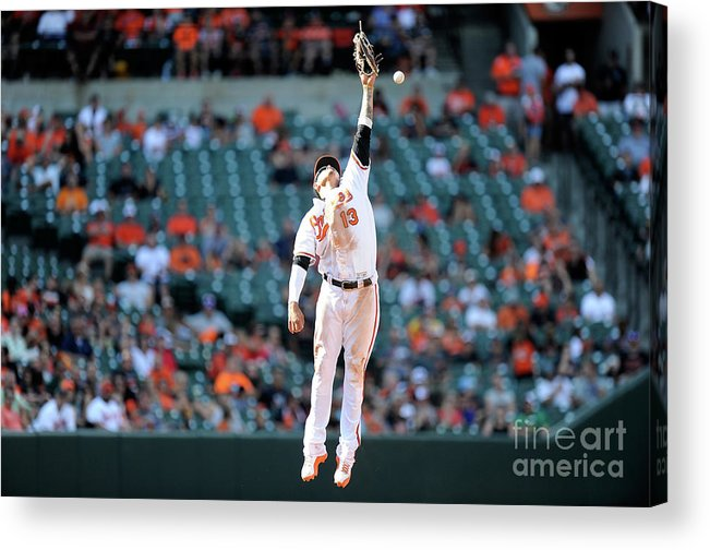 People Acrylic Print featuring the photograph Boog Powell and Manny Machado by Greg Fiume