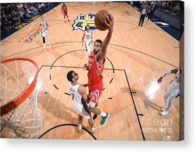 Nba Pro Basketball Acrylic Print featuring the photograph Brandan Wright by Garrett Ellwood