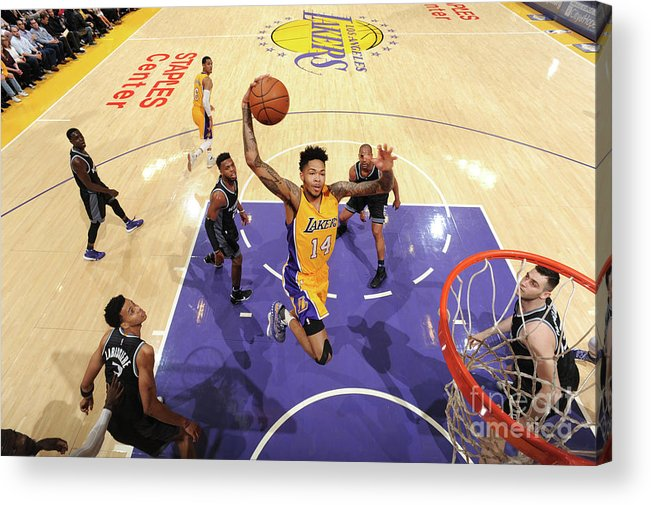 Nba Pro Basketball Acrylic Print featuring the photograph Brandon Ingram by Andrew D. Bernstein