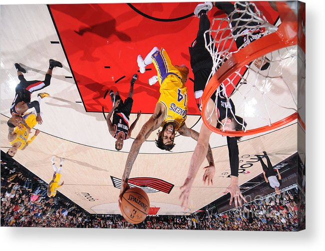 Nba Pro Basketball Acrylic Print featuring the photograph Brandon Ingram by Sam Forencich