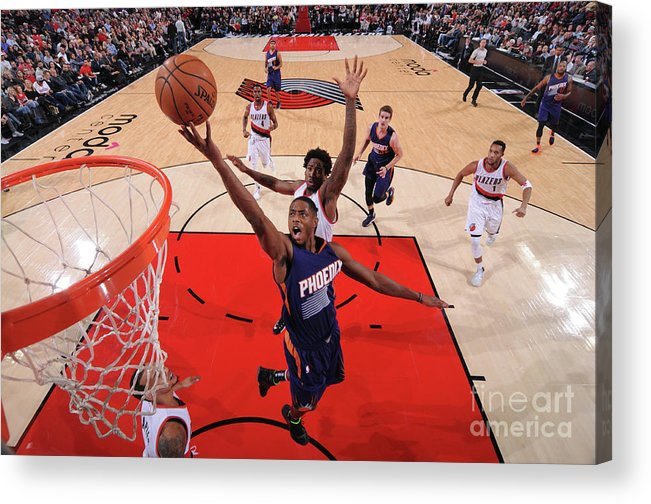 Nba Pro Basketball Acrylic Print featuring the photograph Brandon Knight by Sam Forencich