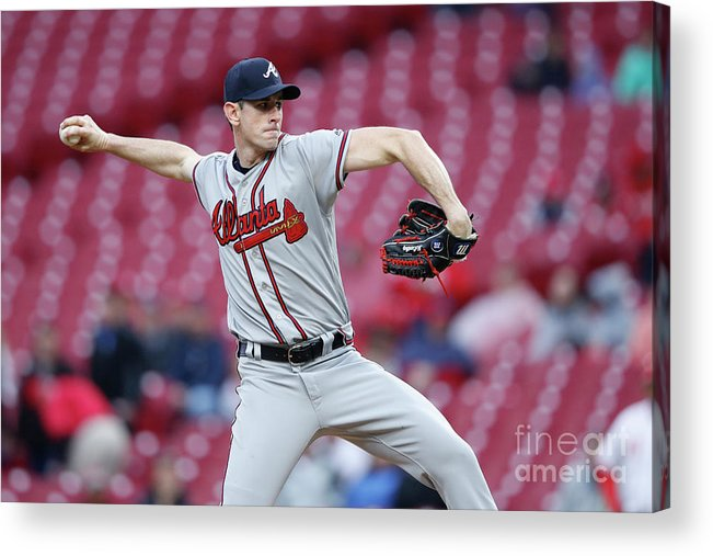 Great American Ball Park Acrylic Print featuring the photograph Brandon Mccarthy by Joe Robbins