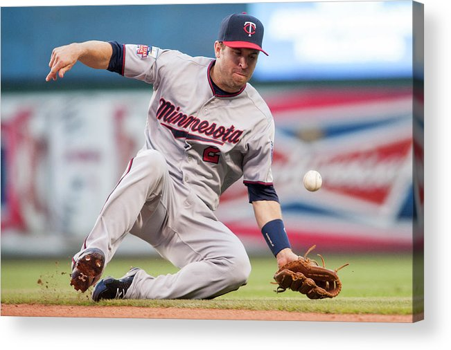 American League Baseball Acrylic Print featuring the photograph Brian Dozier and David Murphy by Jason Miller