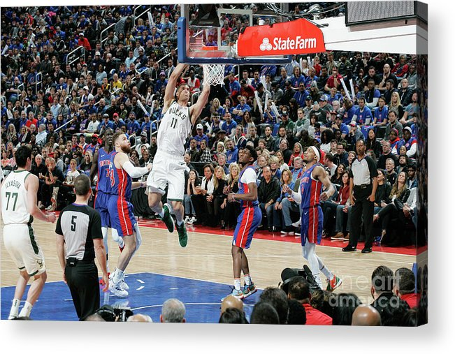 Playoffs Acrylic Print featuring the photograph Brook Lopez by Brian Sevald