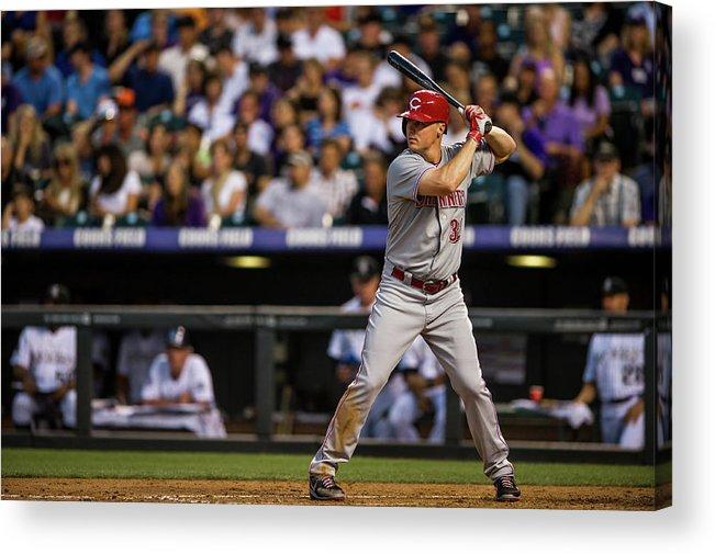 National League Baseball Acrylic Print featuring the photograph Bruce Fields by Dustin Bradford