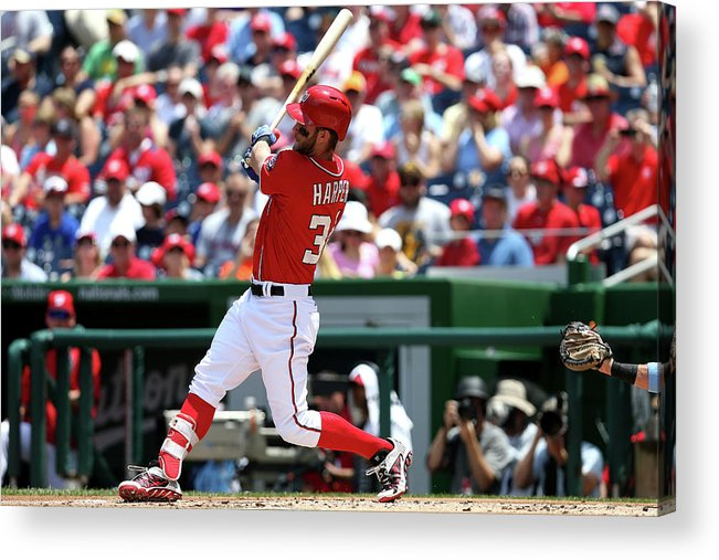 Following Acrylic Print featuring the photograph Bryce Harper by Patrick Smith