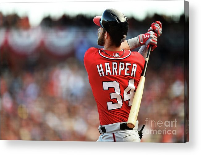 San Francisco Acrylic Print featuring the photograph Bryce Harper by Thearon W. Henderson