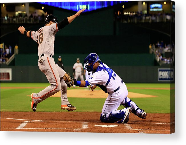 Salvador Perez Diaz Acrylic Print featuring the photograph Buster Posey by Jamie Squire