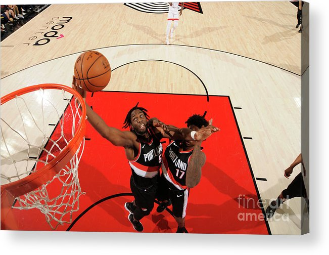 Nba Pro Basketball Acrylic Print featuring the photograph Caleb Swanigan by Cameron Browne
