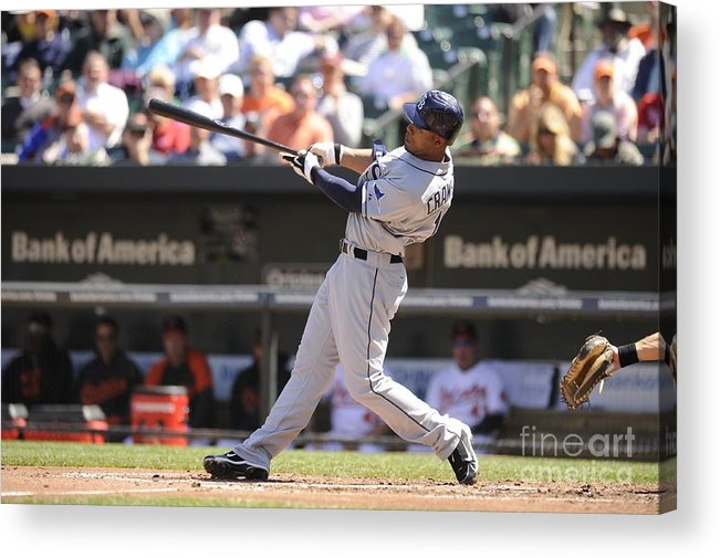 American League Baseball Acrylic Print featuring the photograph Carl Ray by Mitchell Layton