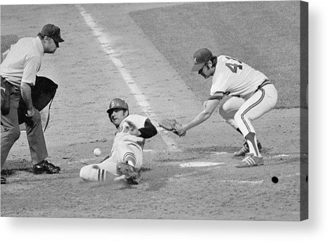 American League Baseball Acrylic Print featuring the photograph Carl Yastrzemski by Ronald C. Modra/sports Imagery