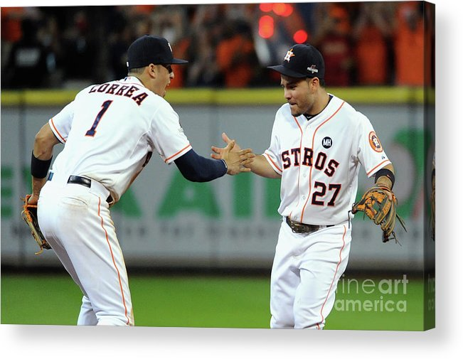American League Baseball Acrylic Print featuring the photograph Carlos Correa by Eric Christian Smith