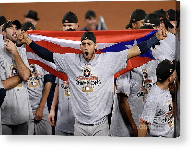 People Acrylic Print featuring the photograph Carlos Correa by Kevork Djansezian