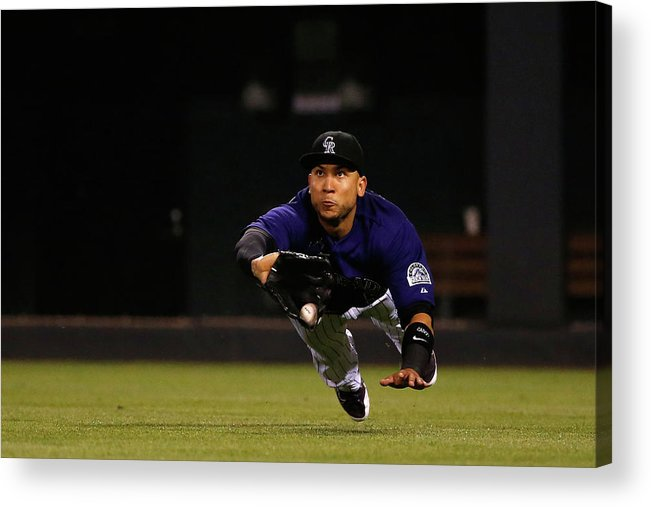 People Acrylic Print featuring the photograph Carlos Gonzalez and Pete Kozma by Doug Pensinger