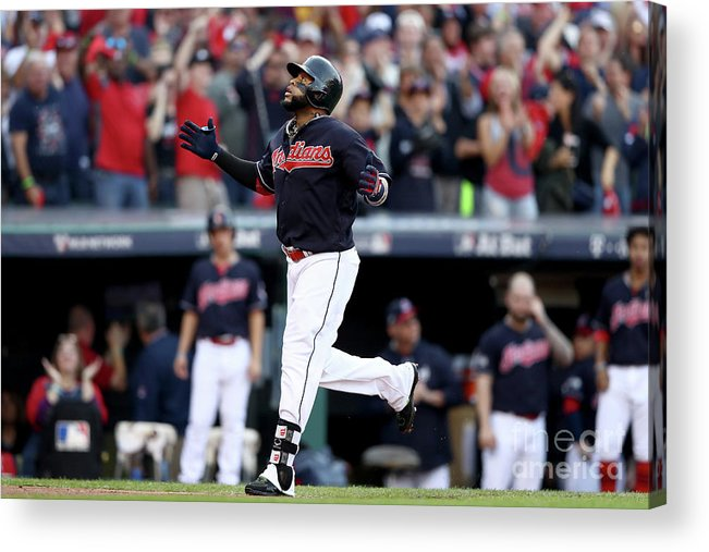 Game Two Acrylic Print featuring the photograph Carlos Santana by Elsa