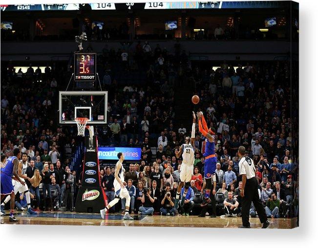 Nba Pro Basketball Acrylic Print featuring the photograph Carmelo Anthony by Jordan Johnson