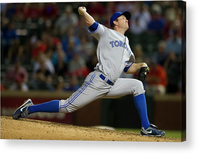 Ninth Inning Acrylic Print featuring the photograph Casey Janssen by Cooper Neill