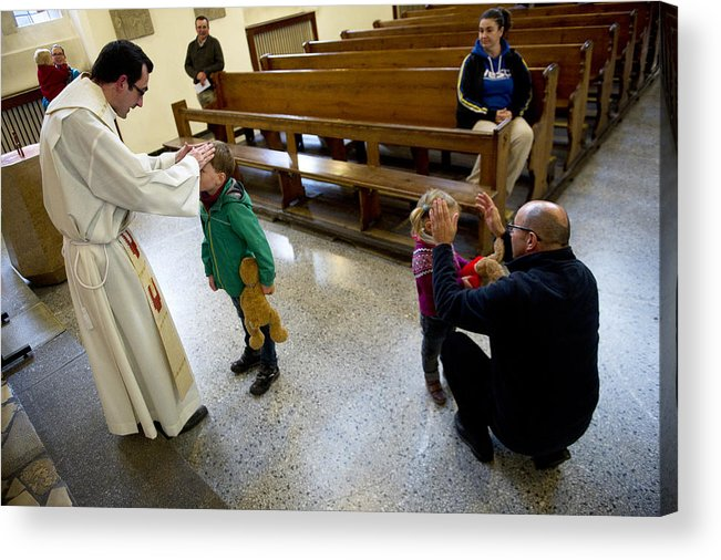 Pets Acrylic Print featuring the photograph Catholic Church Hosts Mass For House Pets by Target Presse Agentur Gmbh
