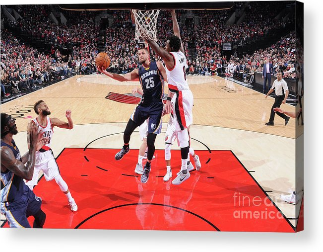 Nba Pro Basketball Acrylic Print featuring the photograph Chandler Parsons by Sam Forencich