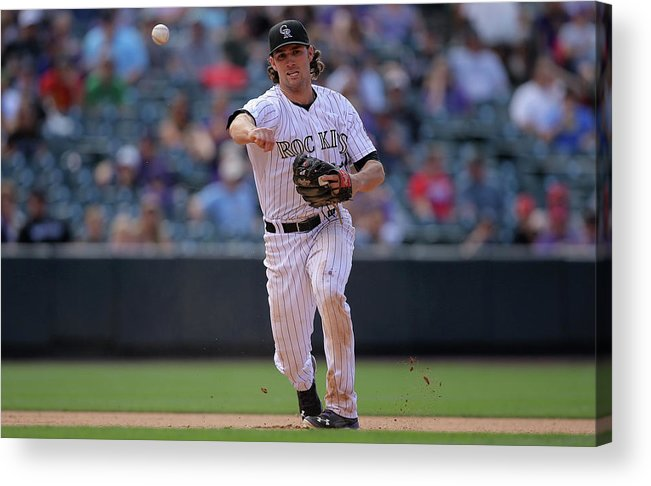 National League Baseball Acrylic Print featuring the photograph Charlie Culberson by Doug Pensinger