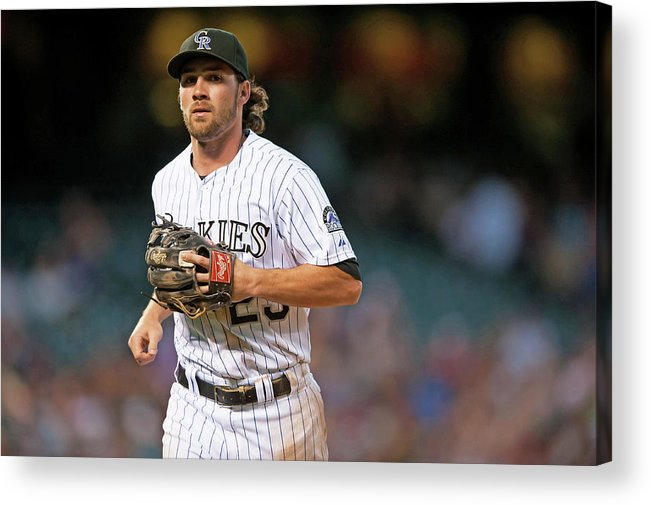 National League Baseball Acrylic Print featuring the photograph Charlie Culberson by Dustin Bradford