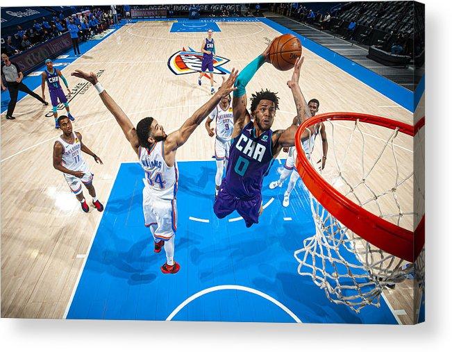 Nba Pro Basketball Acrylic Print featuring the photograph Charlotte Hornets v Oklahoma City Thunder by Zach Beeker