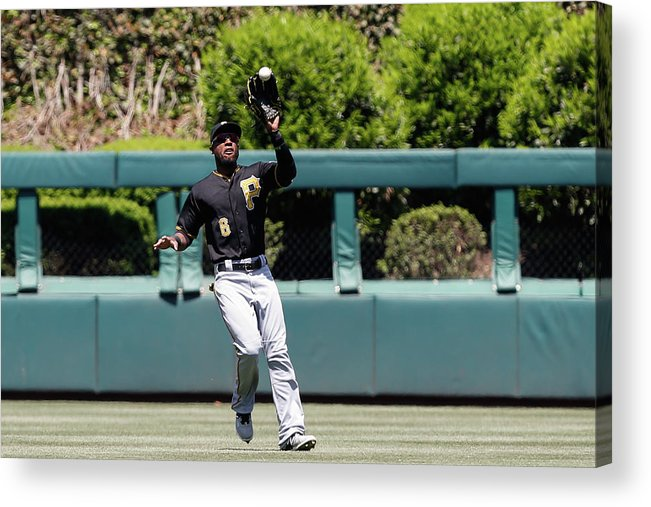 People Acrylic Print featuring the photograph Chase Utley and Starling Marte by Brian Garfinkel