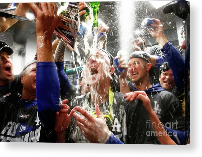 Championship Acrylic Print featuring the photograph Chase Utley by Jamie Squire