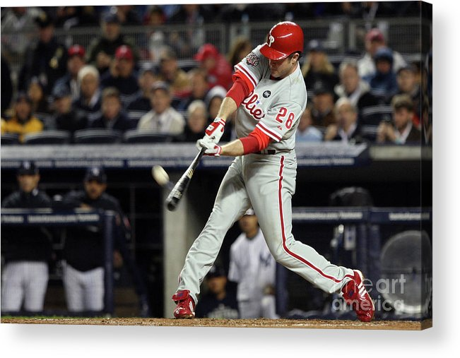 People Acrylic Print featuring the photograph Chase Utley by Jed Jacobsohn