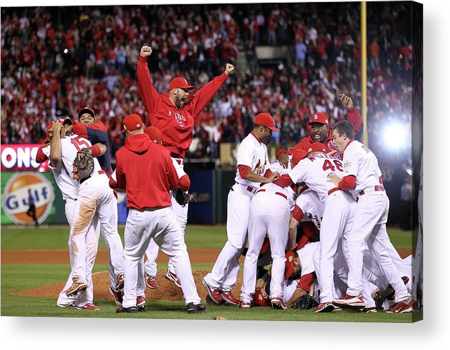 St. Louis Cardinals Acrylic Print featuring the photograph Chris Carpenter by Ezra Shaw