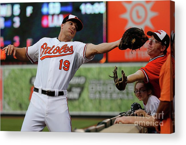 People Acrylic Print featuring the photograph Chris Davis and Chris Carter by Rob Carr
