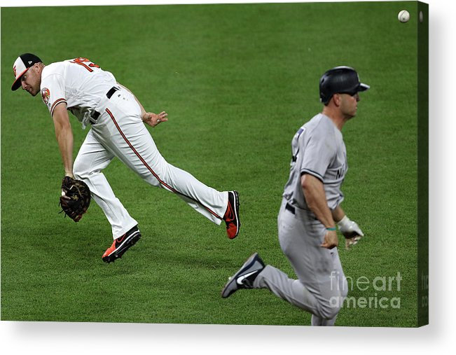 People Acrylic Print featuring the photograph Chris Davis and Matt Holliday by Patrick Smith