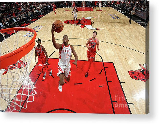Nba Pro Basketball Acrylic Print featuring the photograph Chris Paul by Gary Dineen