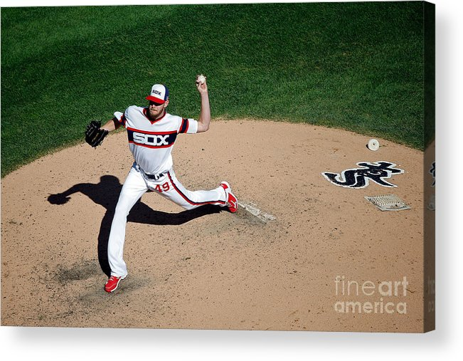 People Acrylic Print featuring the photograph Chris Sale by Jon Durr