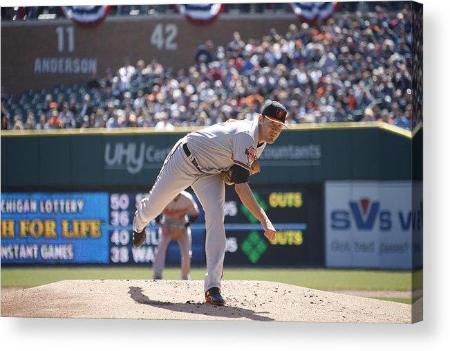 American League Baseball Acrylic Print featuring the photograph Chris Tillman by John Grieshop