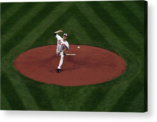 American League Baseball Acrylic Print featuring the photograph Chris Tillman by Patrick Smith