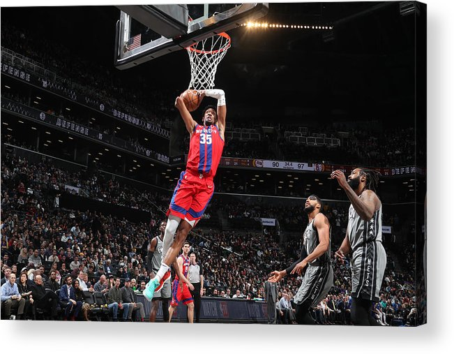 Nba Pro Basketball Acrylic Print featuring the photograph Christian Wood by Nathaniel S. Butler