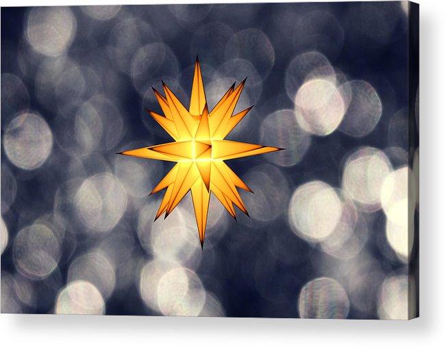 Star Of Bethlehem Acrylic Print featuring the photograph Christmas Atmosphere by Bernd Schunack