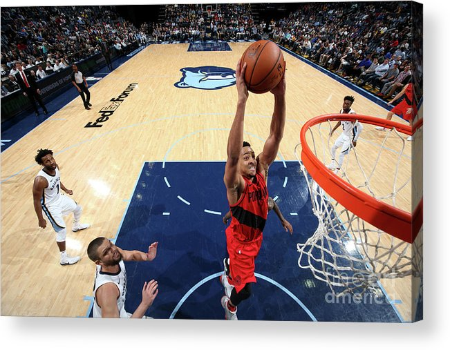Sports Ball Acrylic Print featuring the photograph C.j. Mccollum by Joe Murphy