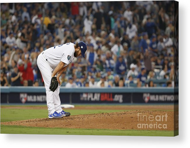 People Acrylic Print featuring the photograph Clayton Kershaw and Mookie Betts by Sean M. Haffey