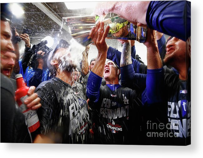 Championship Acrylic Print featuring the photograph Clayton Kershaw by Jamie Squire