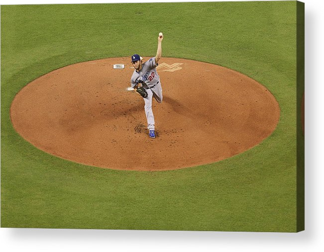 People Acrylic Print featuring the photograph Clayton Kershaw by Rob Foldy