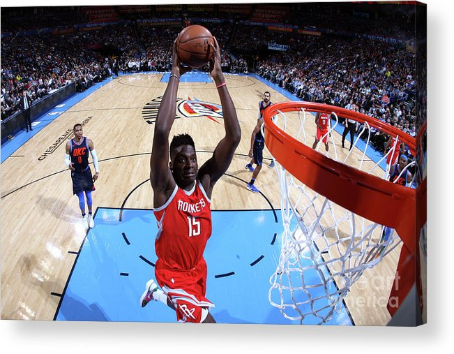 Nba Pro Basketball Acrylic Print featuring the photograph Clint Capela by Layne Murdoch