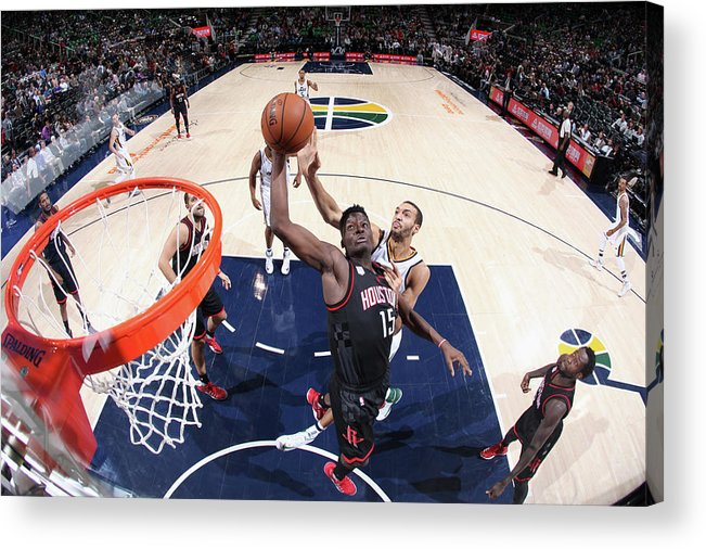 Nba Pro Basketball Acrylic Print featuring the photograph Clint Capela by Melissa Majchrzak