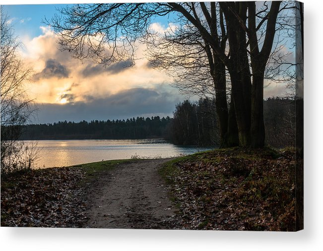 Scenics Acrylic Print featuring the photograph Cloudy Sunrise by William Mevissen