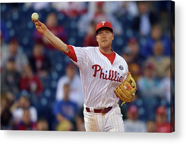 Ninth Inning Acrylic Print featuring the photograph Cody Asche by Drew Hallowell