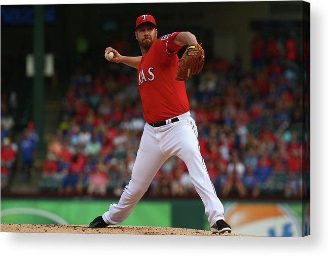 People Acrylic Print featuring the photograph Colby Lewis by Ronald Martinez